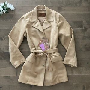 E.A Emporio Collection Suede Trench Coat
